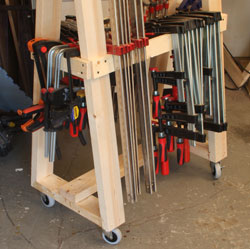 Building the mobil clamp rack for New home construction organizer